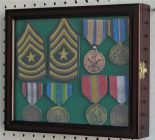 Badge or Medal Display Case, Cherry